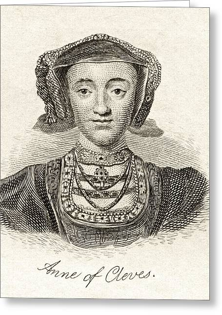 Anne Of Cleves 1515  1557 Queen Consort Greeting Card by Vintage Design Pics