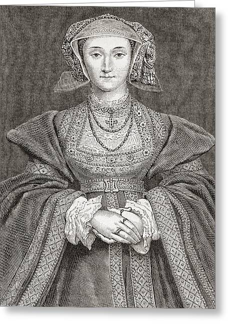 Anne Of Cleves, 1515 Greeting Card by Vintage Design Pics