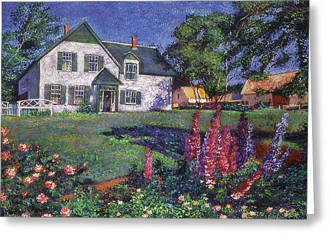 Anne Of Green Gables House Greeting Card by David Lloyd Glover