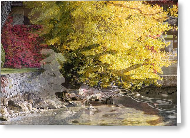Annecy Abstract Greeting Card by Mary Mansey