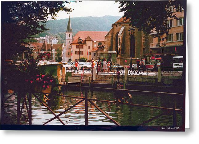 Annecy France Village Scene Greeting Card