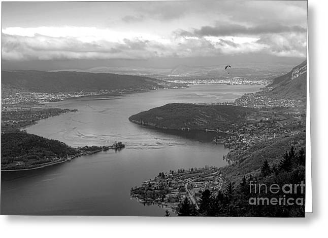 Annecy Lake Greeting Card by Olivier Le Queinec