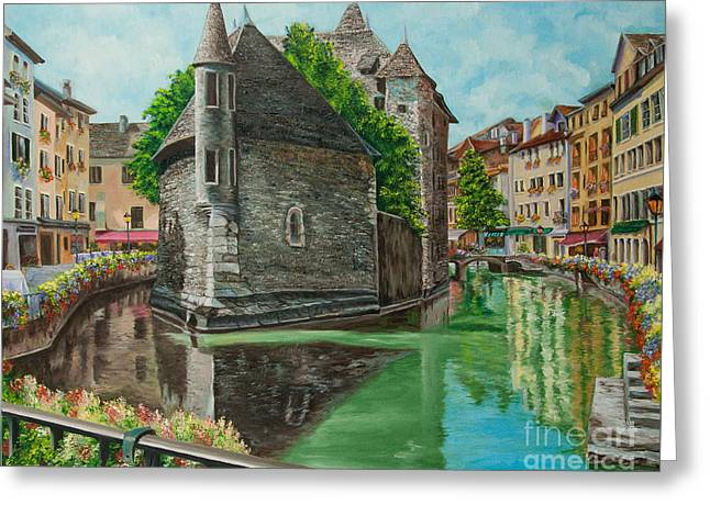Annecy-the Venice Of France Greeting Card by Charlotte Blanchard