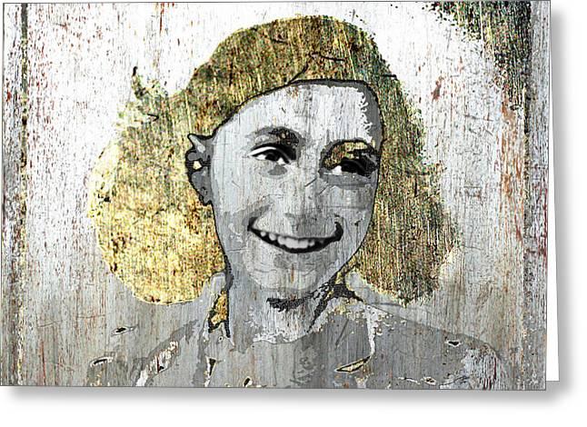 Anne Frank Greeting Card by Tony Rubino