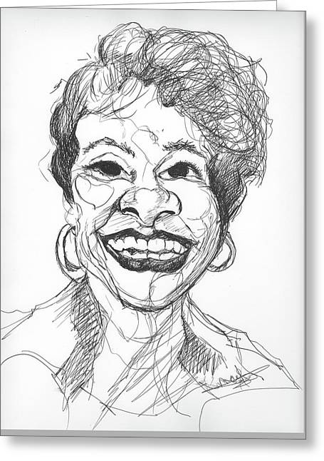 Annette Caricature Greeting Card
