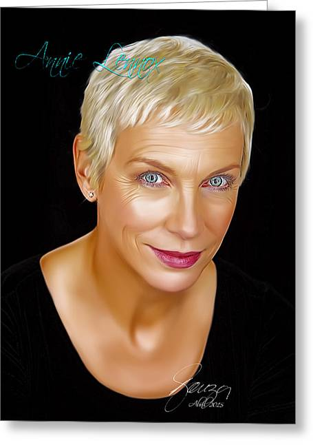 Annie Lennox Greeting Card by Paulo Souza