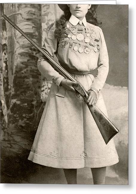 Annie Oakley With A Rifle Greeting Card
