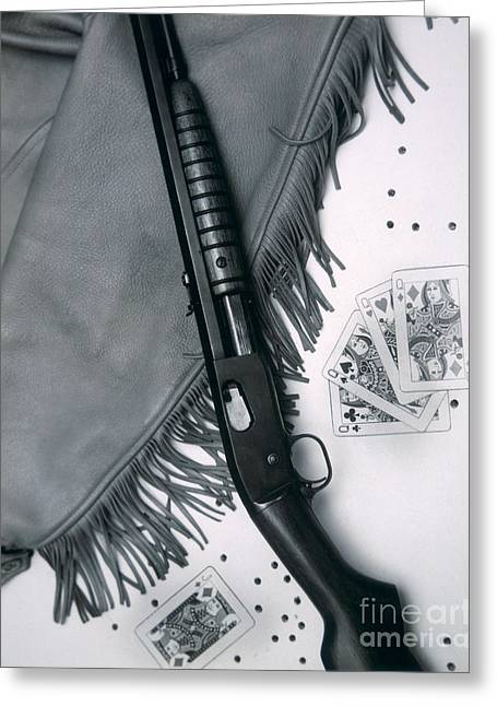 Annie Oakley's Remington Rifle Greeting Card