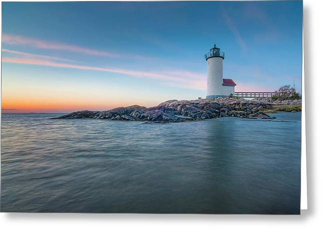 Annisquam Light In Waders Greeting Card