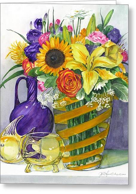 Anniversary Bouquet Greeting Card by Jane Loveall