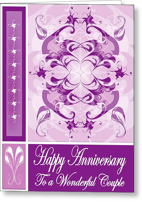 Anniversary Card 1 Greeting Card by George Pasini