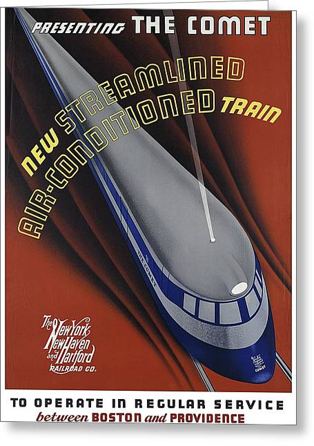 Announcing The Streamlined Air-conditioned Comet Train 1935 Greeting Card