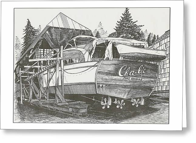 Annual Haul Out Chris Craft Yacht Greeting Card