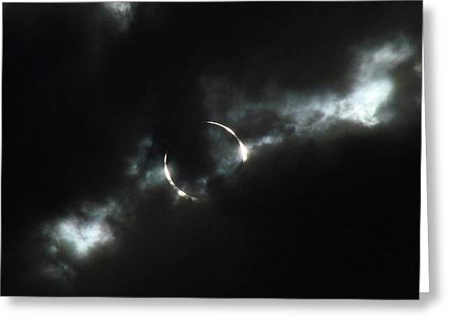 Annuals Greeting Cards - Annular Eclipse Ring of Fire 2012 Greeting Card by Scott McGuire