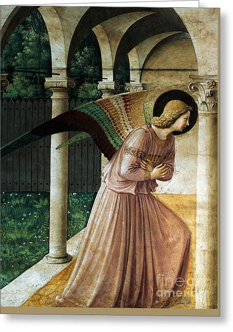Annunciation Greeting Card by Fra Angelico