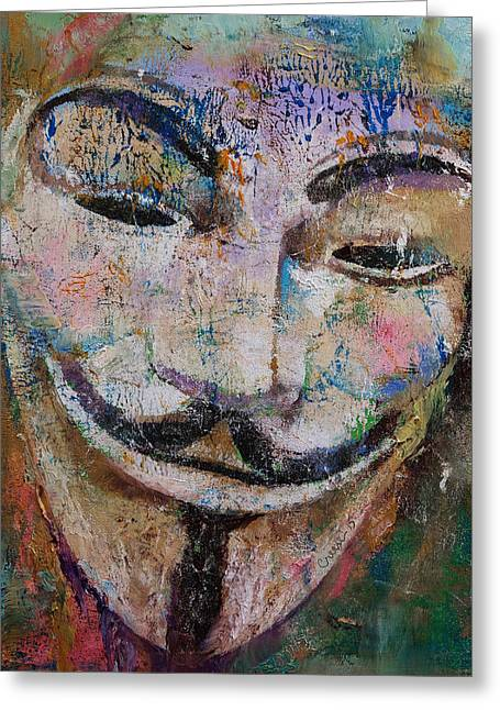 Anonymous Greeting Card by Michael Creese