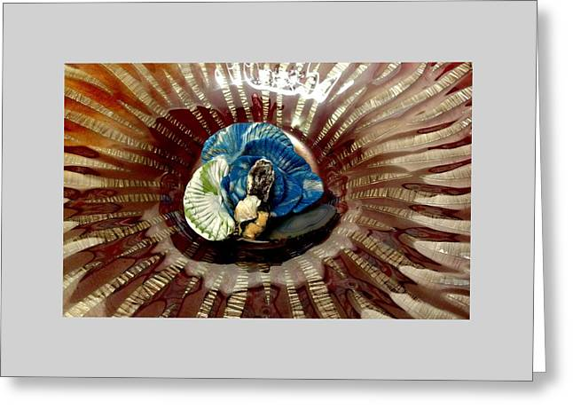 Another Angle Of Fire Blue Greeting Card by Kirk Wieland