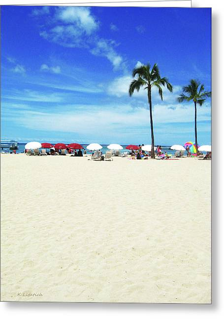 Another Beautiful Day In Waikiki Greeting Card by Kerri Ligatich
