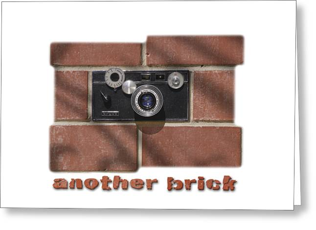 T Shirts Drawings Greeting Cards - Another Brick . . 2 Greeting Card by Mike McGlothlen