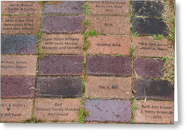 Another Brick Greeting Card