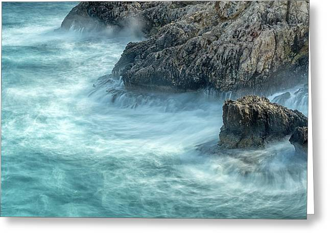 Another Cold And Windy Day Greeting Card by Stelios Kleanthous