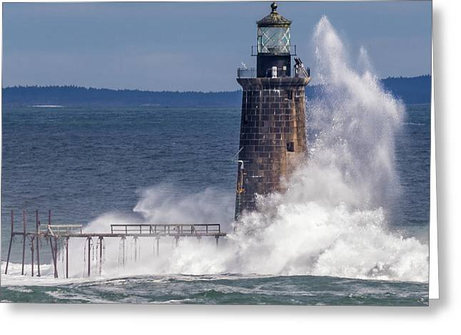Greeting Card featuring the photograph Another Day - Another Wave by Darryl Hendricks