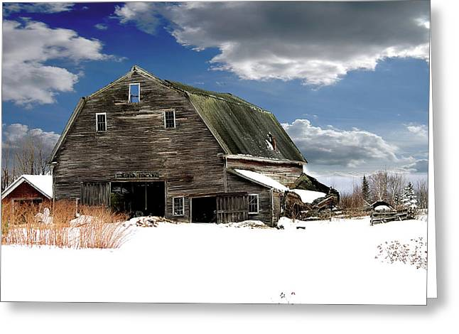Old Maine Barns Greeting Cards - Another Day At The Barn Greeting Card by Gary Smith