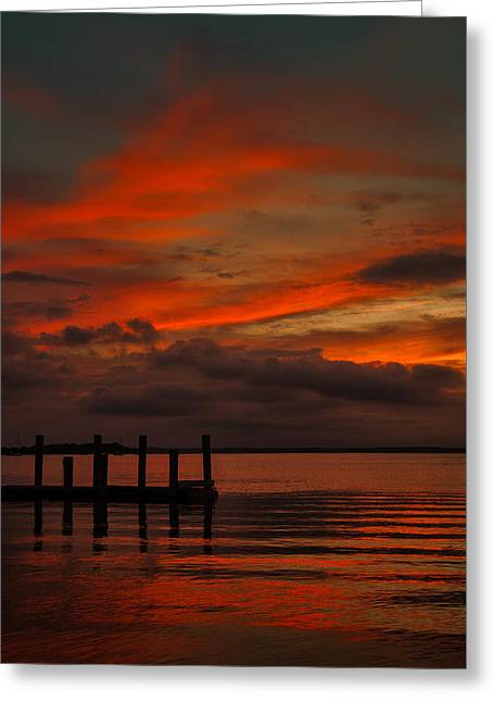 Another Day Is Done Greeting Card by Dave Bosse
