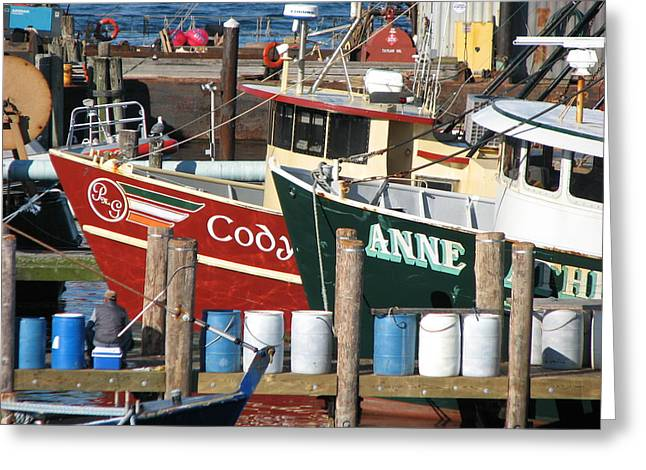 Another Day On The Docks Greeting Card