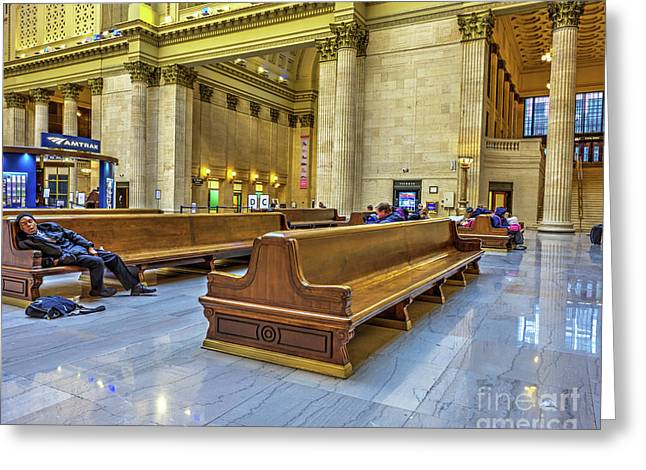 Another Delay - Union Station - Chicago Greeting Card by Kevin Oconnell