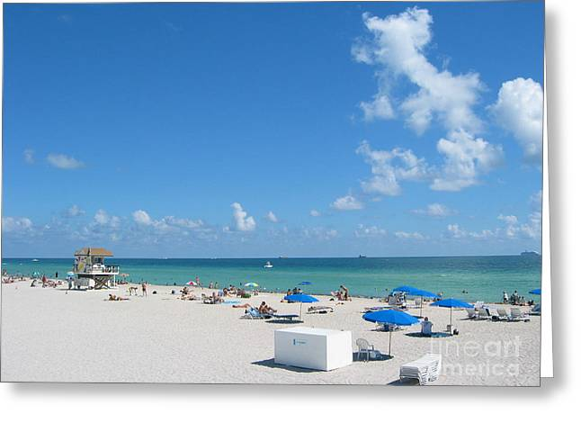 another fine day in South Beach Greeting Card by Keiko Richter