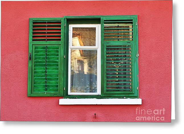 Another Green Shutter Greeting Card