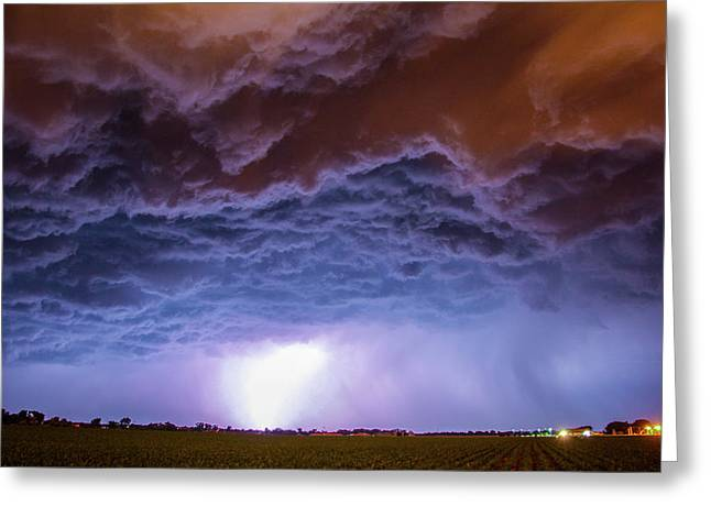 Greeting Card featuring the photograph Another Impressive Nebraska Night Thunderstorm 007 by NebraskaSC