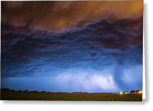 Greeting Card featuring the photograph Another Impressive Nebraska Night Thunderstorm 008/ by NebraskaSC