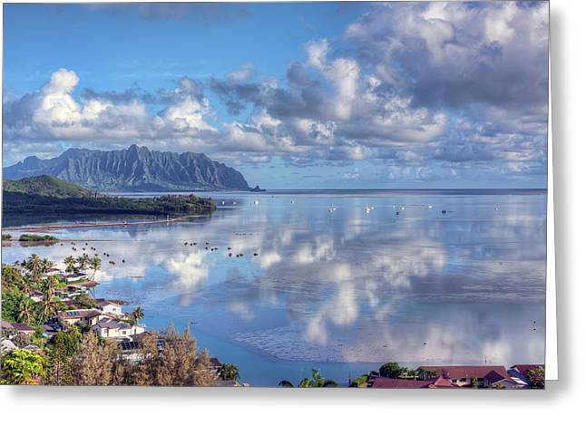 Another Kaneohe Morning Greeting Card by Dan McManus