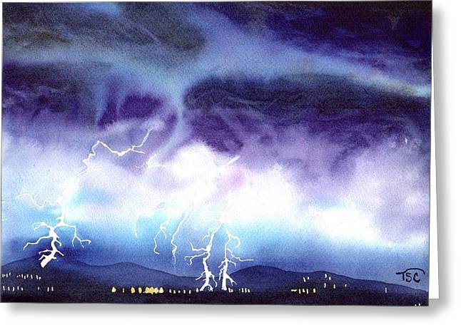 Another Lightning Strike Greeting Card by Tammy Crawford