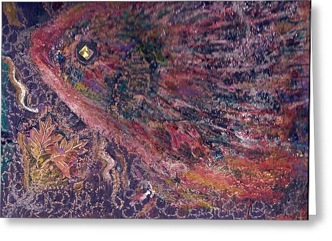 Another Look At Fish Of Many Colors  Greeting Card by Anne-Elizabeth Whiteway