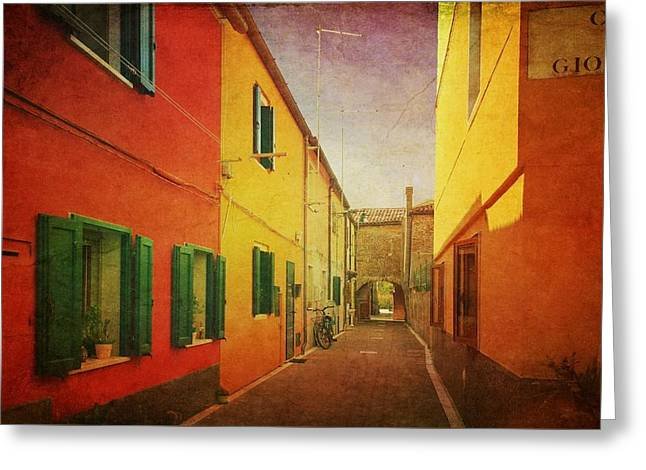 Greeting Card featuring the photograph Another Morning In Malamocco by Anne Kotan