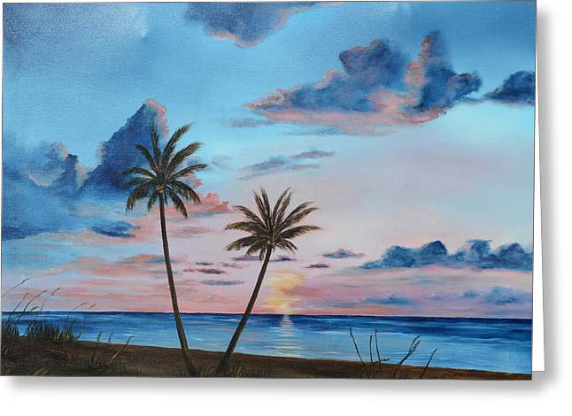 Another Paradise Sunset Greeting Card