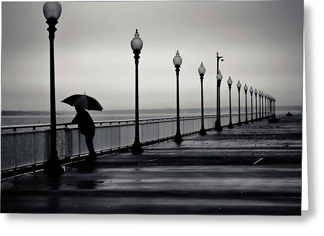 Another Rainy Day Greeting Card by Girardi Santiago