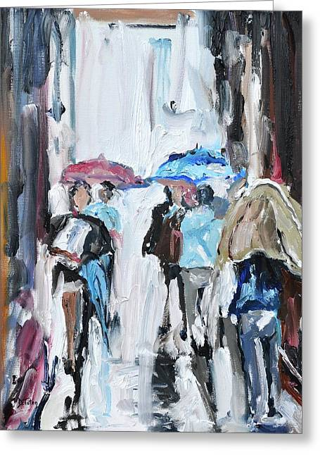 Another Rainy Day Oil Painting Greeting Card