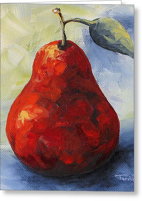 Another Red Pear Greeting Card