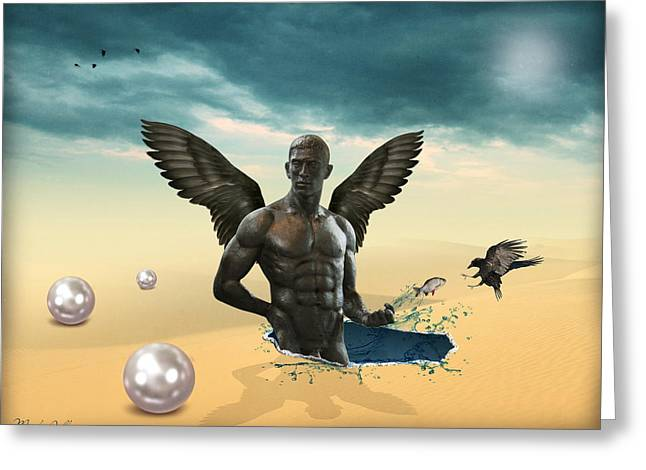 Another Side Of Dream 2 Greeting Card by Mark Ashkenazi