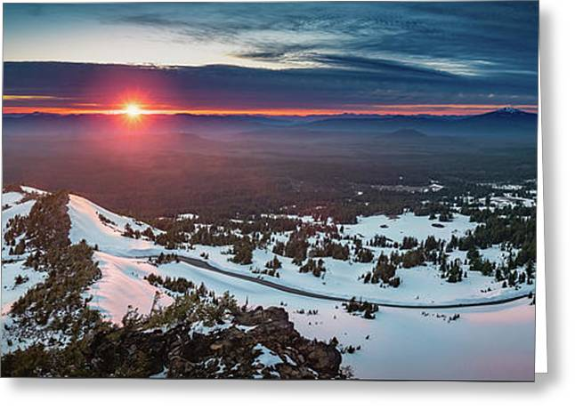 Greeting Card featuring the photograph Another Sunset At Crater Lake by William Lee