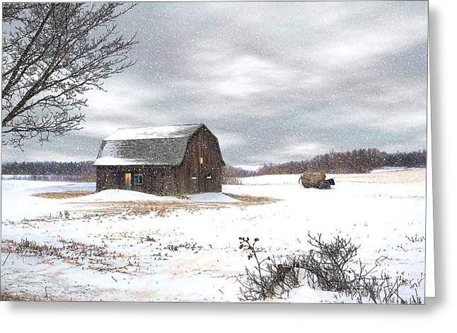 Another Winter Day Greeting Card by Gary Smith