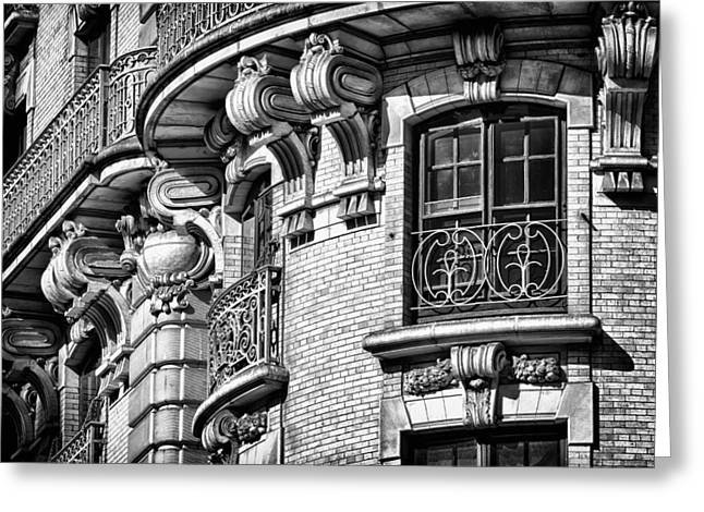 Blackrussianstudio Greeting Cards - Ansonia Building Detail 36 Greeting Card by Val Black Russian Tourchin