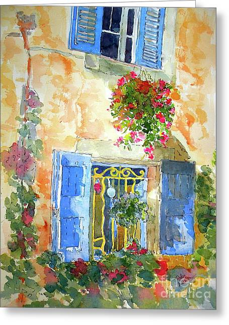 Ansouis Windowbox Greeting Card