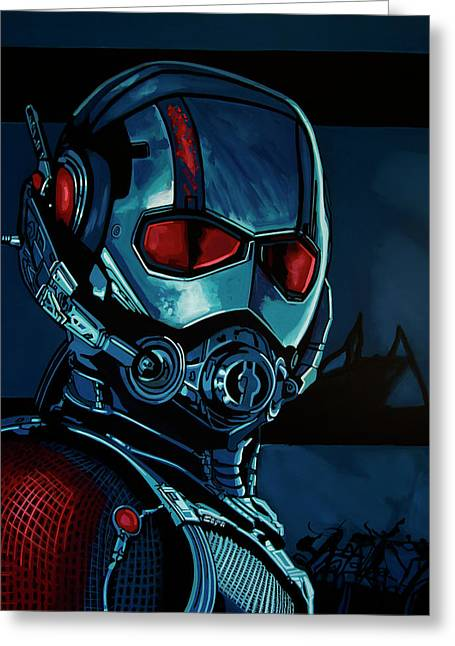 Ant Man Painting Greeting Card