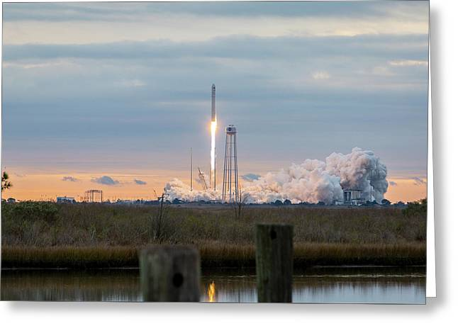 Antares Launch From Wallops Island Greeting Card