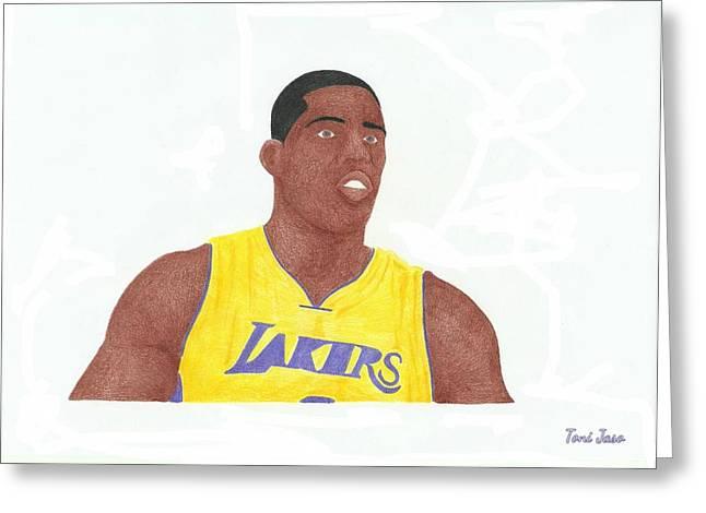 Antawn Jamison Greeting Card by Toni Jaso